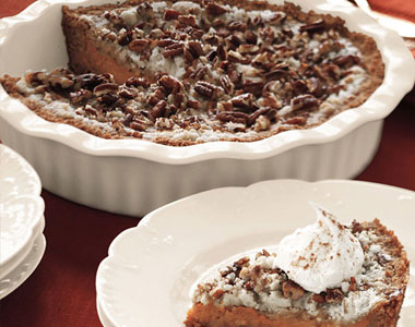 Pumpkin Pecan Layer Pie